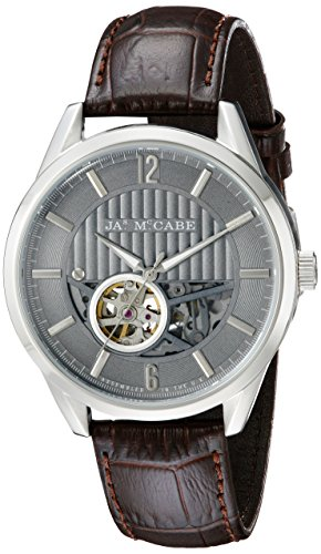 James McCabe Men's JM-1020-01 Belfast Analog Display Japanese Automatic Brown Watch