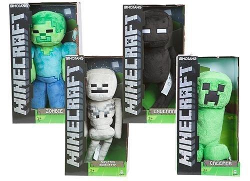 Minecraft Peluche de juguete suave grande 4 caracteres para elegir de Boxed (Zombie)