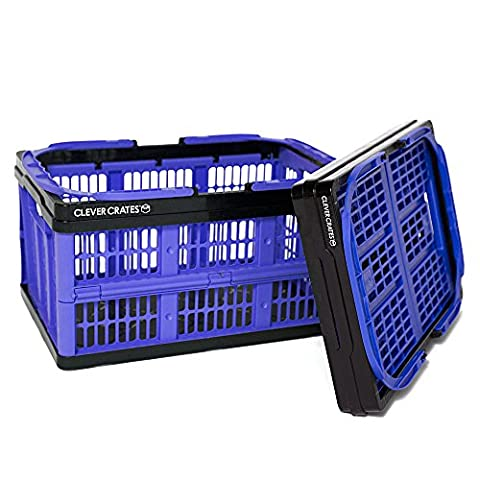 Clever Kisten Einkaufstasche, zusammenklappbar 16Liter–Iris Blau