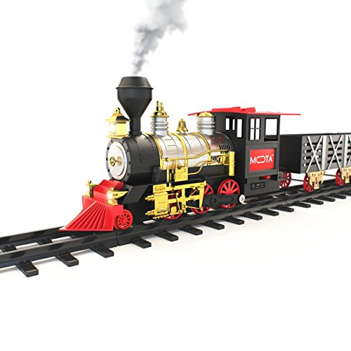 mota-classic-holiday-train-set-with-real-smoke-authentic-lights-and-sounds-a-full-set-with-locomotiv