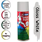 ABRO SP-40 Multipurpose Colour Spray Paint Can for Cars and Bikes (Glossy White, 400ml)