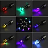 LED Ohrringe Leucht Ohrstecker Ohrringe RGB Farbwechsel bunt leuchtende Ohringe mit Licht