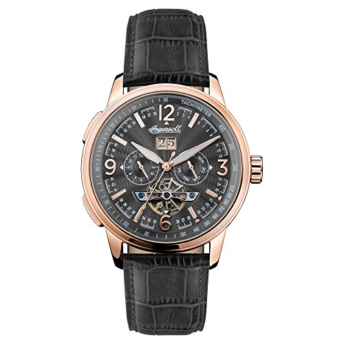 Ingersoll Herren Chronograph Automatik Uhr mit Leder Armband I00302