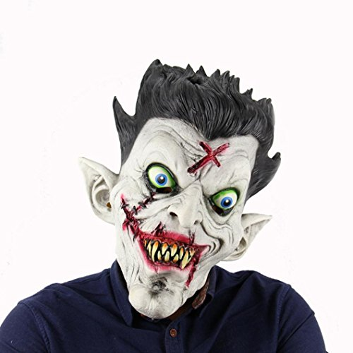 HCFKJ 2017 Mode Halloween Terror Zombie Full Head Halter Halloween Bar Haunted House Dance Requisiten Latex Scary Maske