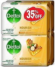 Dettol Nourish Anti-Bacterial Bar Soap 165g Pack Of 4 at 35% Off - Honey & Shea Bu