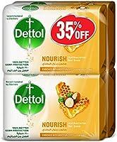 Dettol Nourish Anti-Bacterial Bar Soap 165g Pack Of 4 at 35% Off