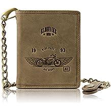 42b09a033 Klondike 1896 Cartera de piel auténtica Wayne Bike con cadena, cartera de  piel de alta