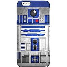 Funda carcasa R2D2 Star Wars para Iphone 4 4S 5 5S 6 6S 6plus 7 7plus plástico rígido