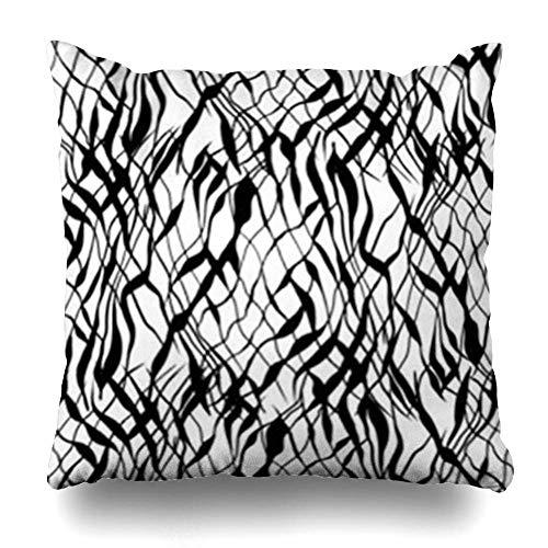 Monicago Zierkissenbezüge, Skin Watercolor Africa Abstract Black White Leopard Feline African Bone Camouflage Carnivore Zebra Pillowcase Square Size 18 x 18 Inches Home Decor Cushion Cases