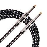 Donner 10pieds de câble électrique Guitare basse Instrument de musique Cordon 1/4