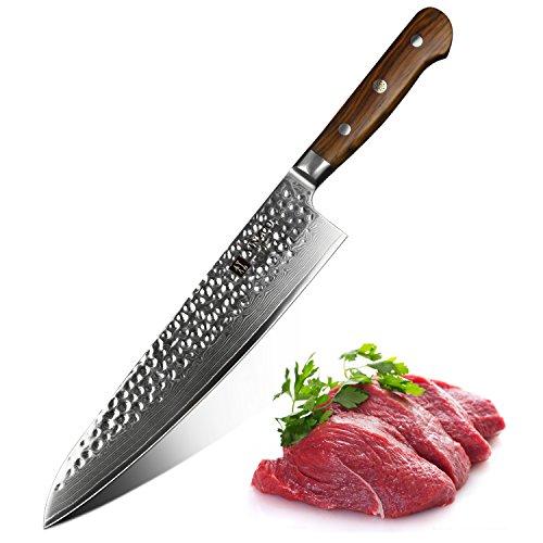 XINZUO Damastmesser Küchenmesser 24cm Profi Kochmesser Japanische Damaststahl Professionelle...