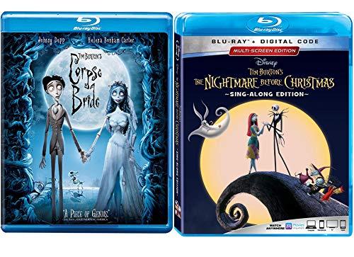 Sing Jack Nightmare Disney King Skellington Sing Along Edition The Nightmare Before Christmas Animated Movie Tim Burton 25th Anniversary + Corpse Bride Blu Ray Animated Bundle