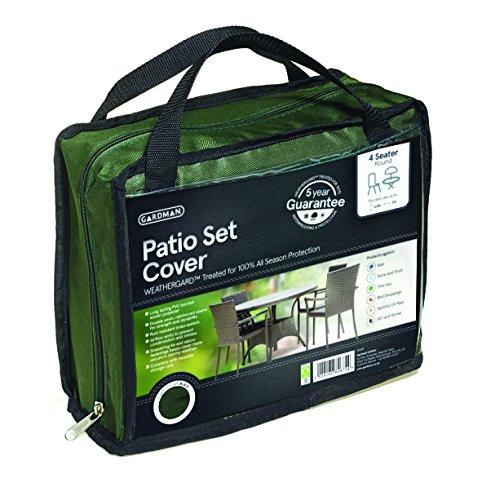 Gardman 34305 Housse pour Mobilier de Terrasse Moyenne Table Ronde Vert 200 X 80 cm