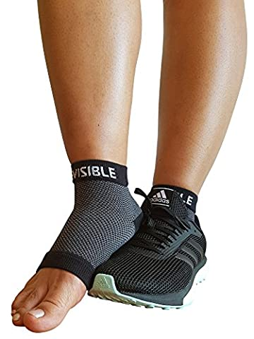 Plantar Fasciitis Foot Compression Sleeves - BeVisible Sports - Ankle Socks for Men Women & Youth - Heel & Arch Support Brace - 1 Pair (Small/Medium, Black) by BeVisible Sports