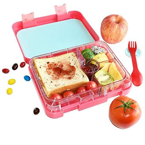 Cajas almuerzo Bento 4 compartimentos aptas microondas