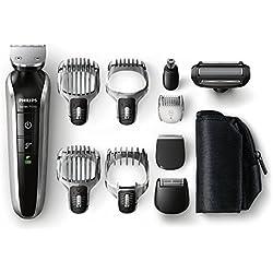 PHILIPS - QG3380/16 - Tondeuse multi-styles 8 en 1 - Fonctions barbe, moustache, oreilles, nez, tondeuse de précision, sabot barbe de 3 jours, tondeuse cheveux et corps>PHILIPS - QG3380/16 - Tondeuse multi-styles 8 en 1 -