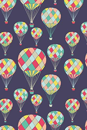 Hot Air Balloons: 6x9 Inch, Graph Paper Notebook, 120 pages