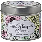 "The Country Candle Company Bloomsbury Collection ""Wild Honeysuckle and Jasmine"" Candle in Tin, Multi-Colour"