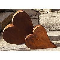 Edelrost Herz liegend 3D Garten Terrasse Geschenk Metall 2 Größen Dekoration