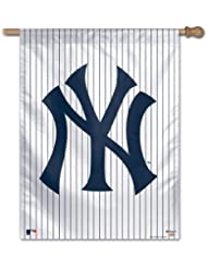 MLB New York Yankees 27-by-37-Inch Vertical Flag-Pinstripe by WinCraft