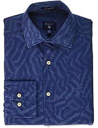 GANT Men's Camo Print Jacquard Shirt