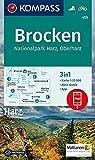 Brocken, Nationalpark Harz, Oberharz 1:25T: 3in1 Wanderkarte 1:25000 mit Aktiv Guide inklusive Karte zur offline Verwendung in der KOMPASS-App. ... 1:25 000 (KOMPASS-Wanderkarten, Band 455) -