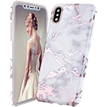 coque iphone x marbre rose