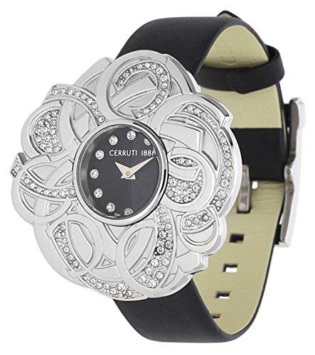 Cerruti Damen Armbanduhr schwarz CRWM041B2220