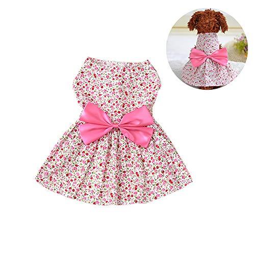 Puppy Dog Dress, Neuer Frühling Sommer Haustier Hund Shirt Rock Lady Hund Kleid Floral Rock Kleiner Hund Prinzessin Bow Dress