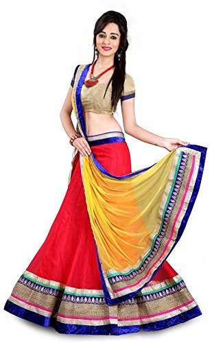 We Can Shop Womens Georgette Lehenga Choli_WCS-030_Multicolor_Free Size