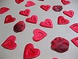 Geschenk Für Frauen - 100 Herz-Rosenblätter mit Prägung