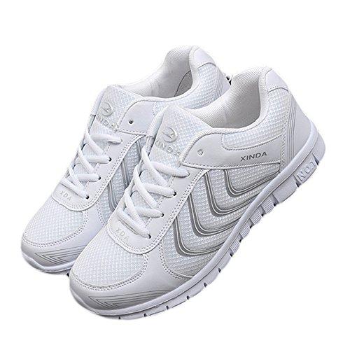 CUSTOME Unisexe Hommes Femmes Chaussures Engrener Appartement Lacer Sneaker Doux Respirant Loisir Poids Léger Confortable Décontractée des Sports Chaussures