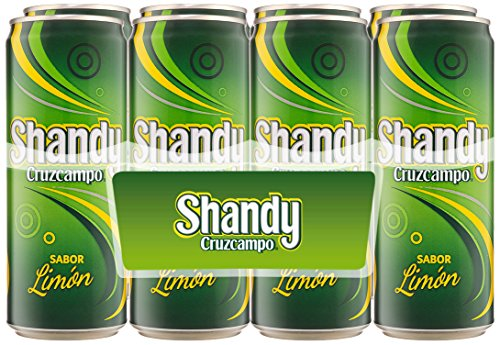 Shandy Cruzcampo Limon Cerveza - Pack de 8 Latas x 330 ml - Total: 2.64 L