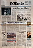 MONDE (LE) [No 17719] du 13/01/2002 - ILE MONDE+«, VERSION 2002 - POUR TOUT SAVOIR SUR NOTRE FORMULE RENOVEE LES SONDAGES SONT-ILS FIABLES ? - A CENT JOURS DU PREMIER TOUR DE LA PRESIDENTIELLE, LES INSTITUTS DE SONDAGE SE CONTREDISENT - L'UN D'EUX DONNE LIONEL JOSPIN GAGNANT TANDIS QUE TOUS LES AUTRES PLACENT EN TETE JACQUES CHIRAC - EN 1995 DEJA, NOMBRE DE LEURS PRONOSTICS S'ETAIENT AVERES ERRONES - ENQUETE SUR UN METIER A LA FOIS SOLLICITE ET CONTESTE PEDOPHILIE - UN NOUVEAU DRAME...
