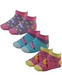 3er Pack Kinder Mädchen Sneaker Socken mit Motiv Einhorn und Ponys