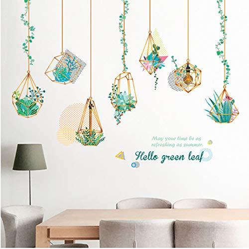 r für Schlafzimmer Wohnzimmer Mädchen Junge Küche - Grünpflanze des Hängenden Korbes ()