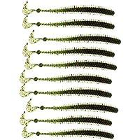 Magideal 10 Unids Señuelos Pesca Suave Gusanos Mar Lombrices Señuelo Clamworm - Verde
