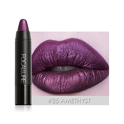 Lippenstift,EUZeo Matten Lippenstift Stift wasserdicht dauert 8 Farbe Optional Lip Makeup Wasserdichte Long Lasting Moisturizing Lippenstift Lip Gloss (25)