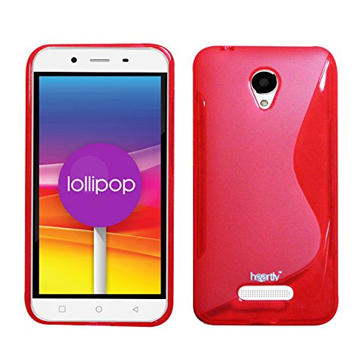 Heartly Thin Premium S-Line Soft Flexible TPU Matte Rugged Bumper Back Case Cover For Micromax Canvas Doodle 4 Q391 Dual Sim - Hot Red  available at amazon for Rs.239