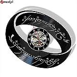 Hot Seigneur des Anneaux Thème noir CD Record Horloge À La Main Vinyle 3D Horloge...