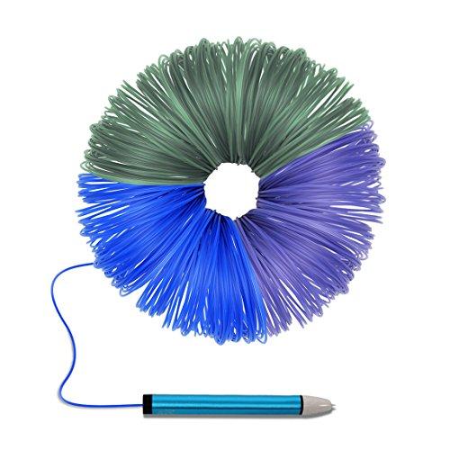 Filament d'imprimante de stylo 3D, filament de Maigel 1.75mm remplit le matériel de PLA 20 couleur / 10M par couleur comprenant 6 lueur dans les couleurs foncées, 6 fluo pour l'impression 3D Dessin stylo et imprimante de peinture (20 couleurs)