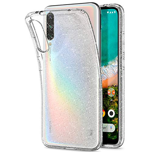 Spigen Cover Xiaomi Mi A3 Liquid Crystal Glitter Progettato per Xiaomi Mi A3 Cover Custodia - Crystal Quartz