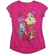 T-shirt manches courtes fille Monster High 3personnages Violet de 8 à 14ans