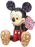 Enesco Disney Traditions Micky Maus mit Blumen fuer Minnie Maus, Stein, mehrfarbig, 5 x 5,5 x 7 cm