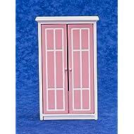Casa Delle Bambole Mobili Rosa E Bianco Armadio Wardrobe 346