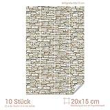 Graz Design 767080_20x15_50 Fliesenaufkleber Stein - Mauer - Optik | mit Fliesenbildern die Fliesen-Wände überkleben (Fliesenmaß: 20x15cm (BxH)//Bild: 50x75cm (BxH))