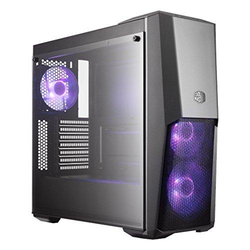 Cooler Master - MasterBox MB500 - Boitier PC Gaming (Moyenne Tour ATX, 1xPanneau En Verre Trempé, 3xVentilateur 120mm RGB) - Noir