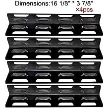 Bar.b.q.s BBQ (paquet de 4) plaque de chaleur en acier inoxydable de remplacement / bouclier pour certains modèles de gril à gaz Par Kenmore, Master Forge et d'autres