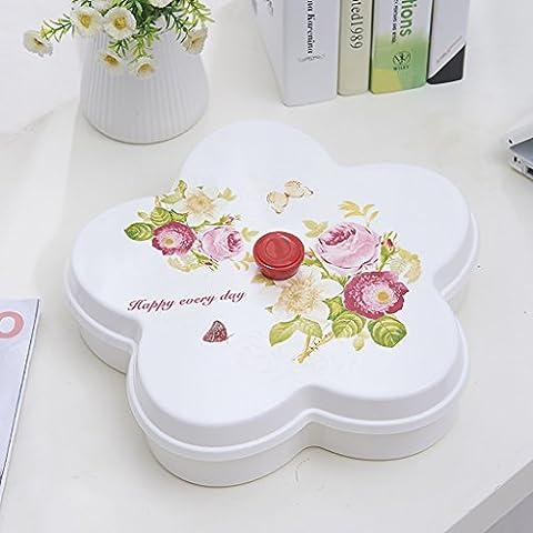 GXRMJ Obstteller / Süßigkeit-Kasten / Liebe Obstteller / Obstkorb / Kreativ Dörrobst / Sub-Gitter Covered Süßigkeit Platte / Snack Box ( größe : 3# )