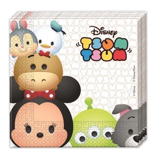 Procos Disney Tsum Tsum Papier Fête Serviettes De Lunch (paquet De 20)